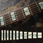 Roman Numeral White Silver Fret  Markers Inlay Sticker For Guitar